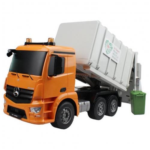 Радиоуправляемый мусоровоз Double E Mercedes-Benz Antos 1:20 2.4G