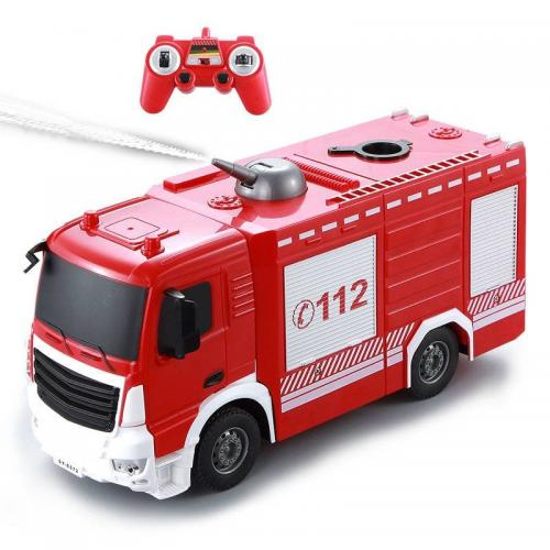 Радиоуправляемая пожарная машина Double E 1:26