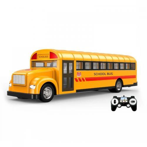 Радиоуправляемый школьный автобус Double E 1:18 2.4G