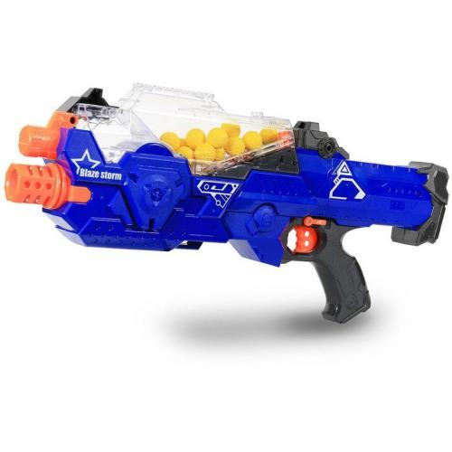 Игрушка детский автомат с мягкими пулями на батарейках
