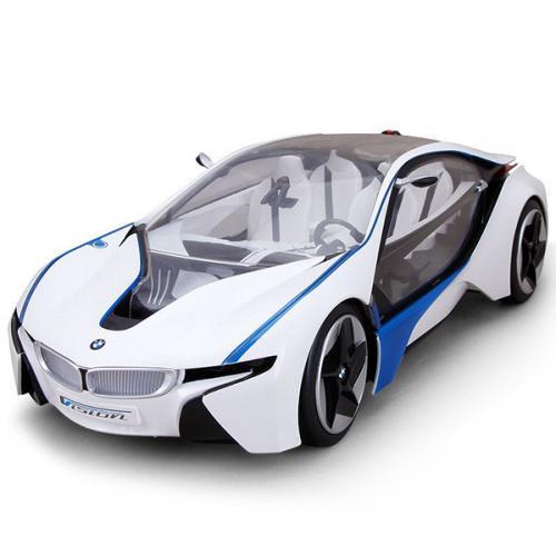 Машина радиоуправляемая BMW i8 (свет, 32 см, аккум., до 30 м, открываются двери)