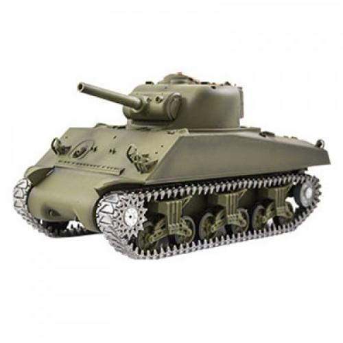 Радиоуправляемый танк Ginzzu M4A3 Sherman 1:16 3898-1 PRO  (металлическая версия, дым, свет, звук, стрельба, 41 см)