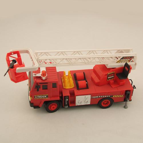 Пожарная машина с подъемной стрелой радиоуправляемая  F827-1 (звук, свет, 41 см)