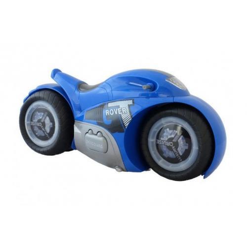 Радиоуправляемый мотоцикл-перевертыш синий