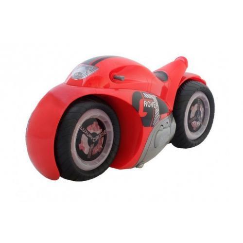 Радиоуправляемый мотоцикл-перевертыш красный