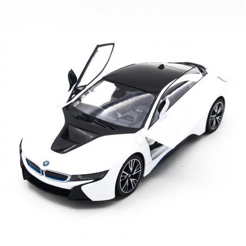 Радиоуправляемая машина Rastar BMW i8 White 1:14 (двери открываеются с пульта)