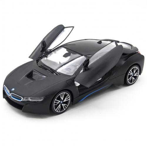 Радиоуправляемая машина Rastar BMW i8 Black 1:14 (двери открываеются с пульта)
