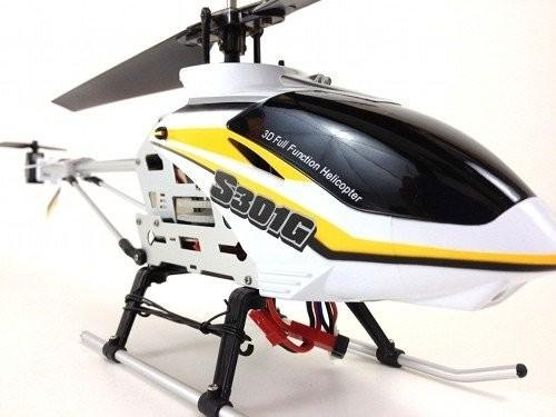 Вертолет на радиоуправлении Syma S301G (45 см, прожектор, ударопрочный, алюминий)