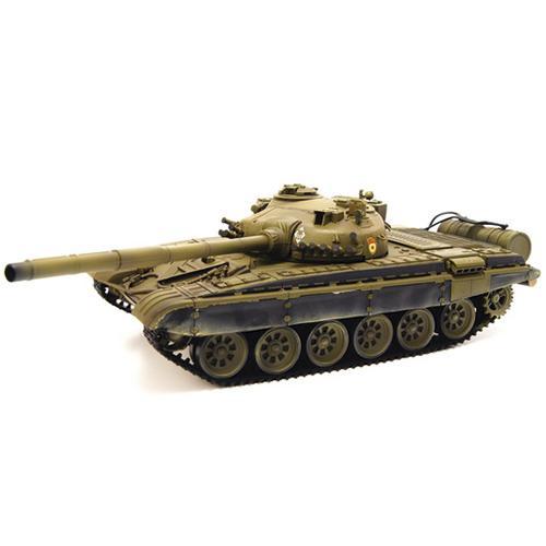 Радиоуправляемый танк T72 (пневмопушка, звук, светодиод. фары, 3 скорости, 42 см)