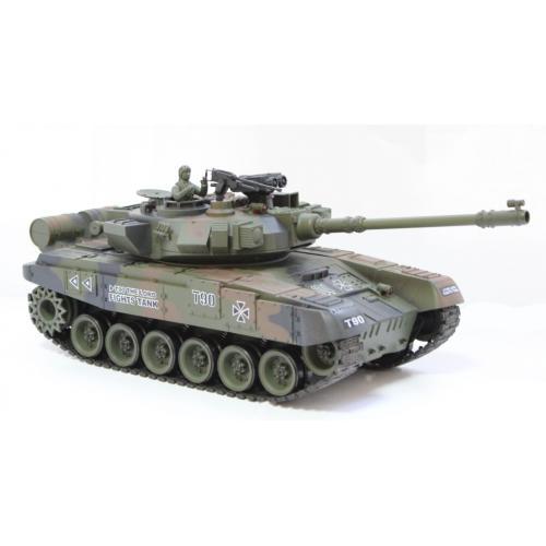Радиоуправляемый танк T-90 Владимир 1:20 (зеленый, пневмопушка, 3 скорости, 40 см)