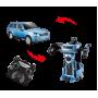 Радиоуправляемая машина робот-трансформер (свет, звук, 20 см, синий)
